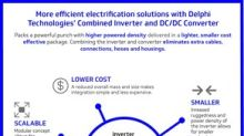 Delphi Technologies launches revolutionary Combined Inverter and DC/DC Converter in China