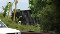 Train cars derail in NE Houston