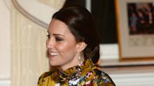 Duchess of Cambridge gives a subtle nod to Princess Diana by wearing her jewellery to accessorise her £1,945 Erdem dress