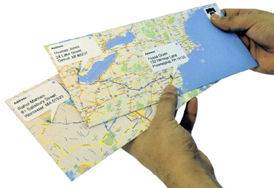 Google Envelopes turns Gmail into snail mail, wraps it in precisely routed Maps printout