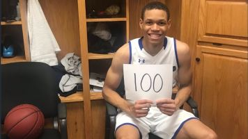 NBA player's brother scores 100 in NAIA game