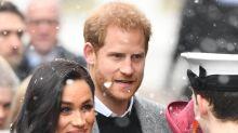 Salida nevada para Meghan Markle y el príncipe Harry