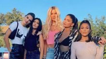 Kardashian-Jenner Sisters Pose Together for Picture While Khloé Jokes About 'Photo Approval'