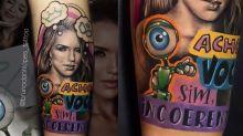 Fã tatua rosto de Rafa e frase de briga do 'BBB 20'