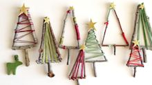 How to make mini Christmas tree decorations