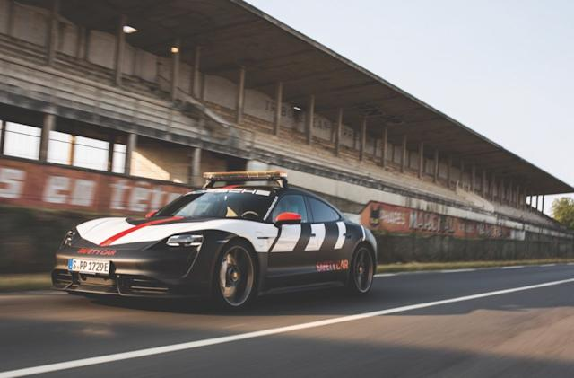 Porsche debuts its Taycan safety car at Le Mans