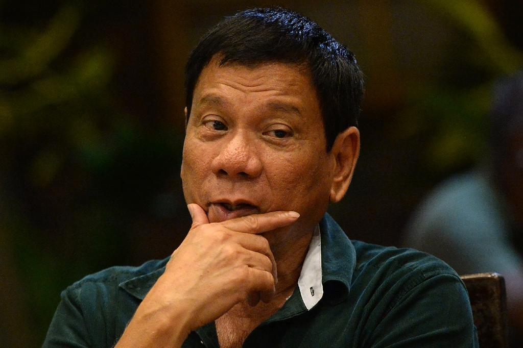 Philippine President Rodrigo Duterte (pictured) expressed regret on September 6, 2016, that his comments branding US leader Barack Obama a 'son of a whore' came across as a personal attack (AFP Photo/Ted Aljibe)