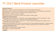 Bard's Anticipated Product Launches in 2018