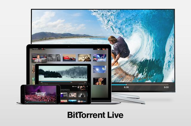 BitTorrent launches a live video streaming platform