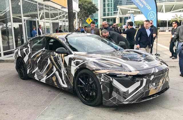 Lucid Motors' super-secret car makes an appearance