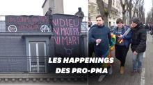 Manif pour tous: le cortège anti-PMA perturbé par des contre-manifestants