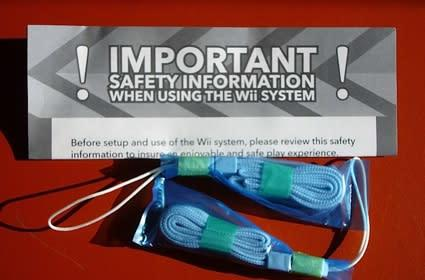 Unpacking the Wii replacement straps