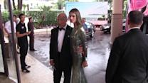 Irina Shayk Narrowly Avoids Wardrobe Malfunction in See-Through Dress at Cannes