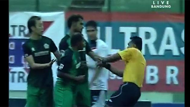 Player punches referee