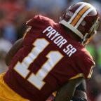 Redskins' Terrelle Pryor warns Rams defender to 'not take out knees'