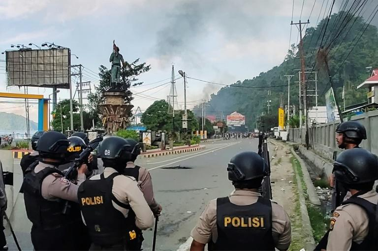 Tens of thousands have protested across Papua in recent weeks, clashing with police (AFP Photo/Indra Thamrin Hatta)