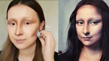 Watch This Woman Turn Her Face Into the Mona Lisa