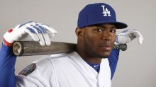 Yasiel Puig's new shoes forced him to miss the Dodgers spring opener