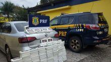 PRF apreende 150 quilos de cocaína em fundo falso de carro na BR-101