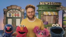 Seth Rogen went to 'Sesame Street,' and everyone's got weed jokes