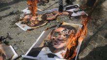 EN IMAGES. Caricatures: nouvelles manifestations contre Emmanuel Macron et la France dans des pays du monde musulman
