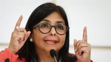 La vicepresidenta de Venezuela llega a Cuba para presentar la Ley Antibloqueo