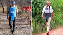 Prince Harry walks through Angola minefield 22 years after Princess Diana