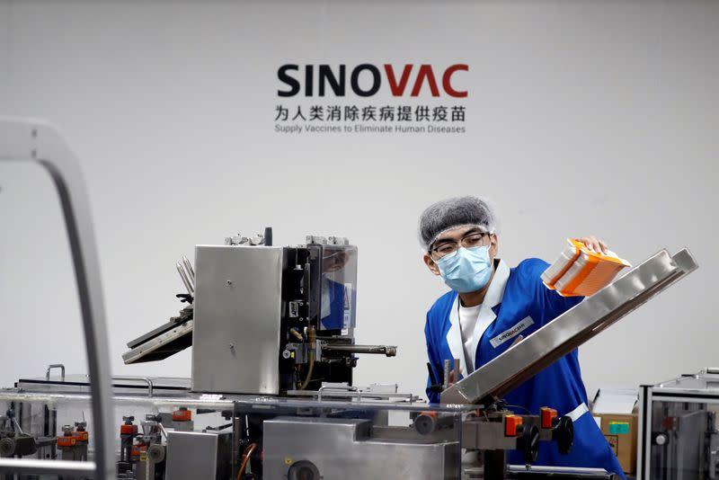 China's Sinovac vaccine is safe, Brazil institute says