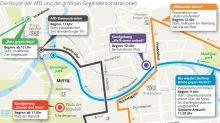 Demonstrationen: Hier wird es für Auto- und Bahnfahrer am Sonntag eng