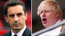 Gary Neville aims dig at Boris Johnson after England reach Euro 2020 final