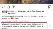 Grazi Massafera deleta foto com filhote na África após críticas de Luisa Mell