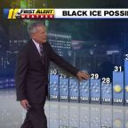 Black ice remains a concern for morning commuters
