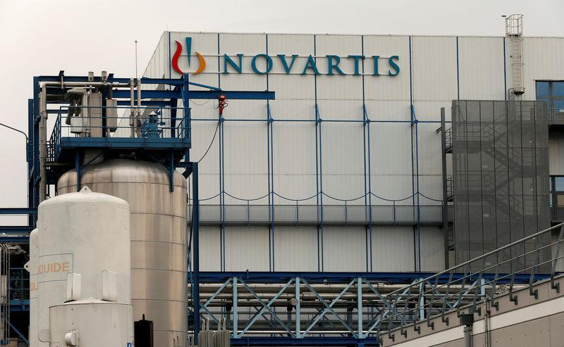 FILE PHOTO: Logo of Swiss pharmaceutical company Novartis is seen in Hueninge, France