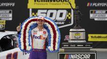 Denny Hamlin wins at Talladega after a ridiculous finish