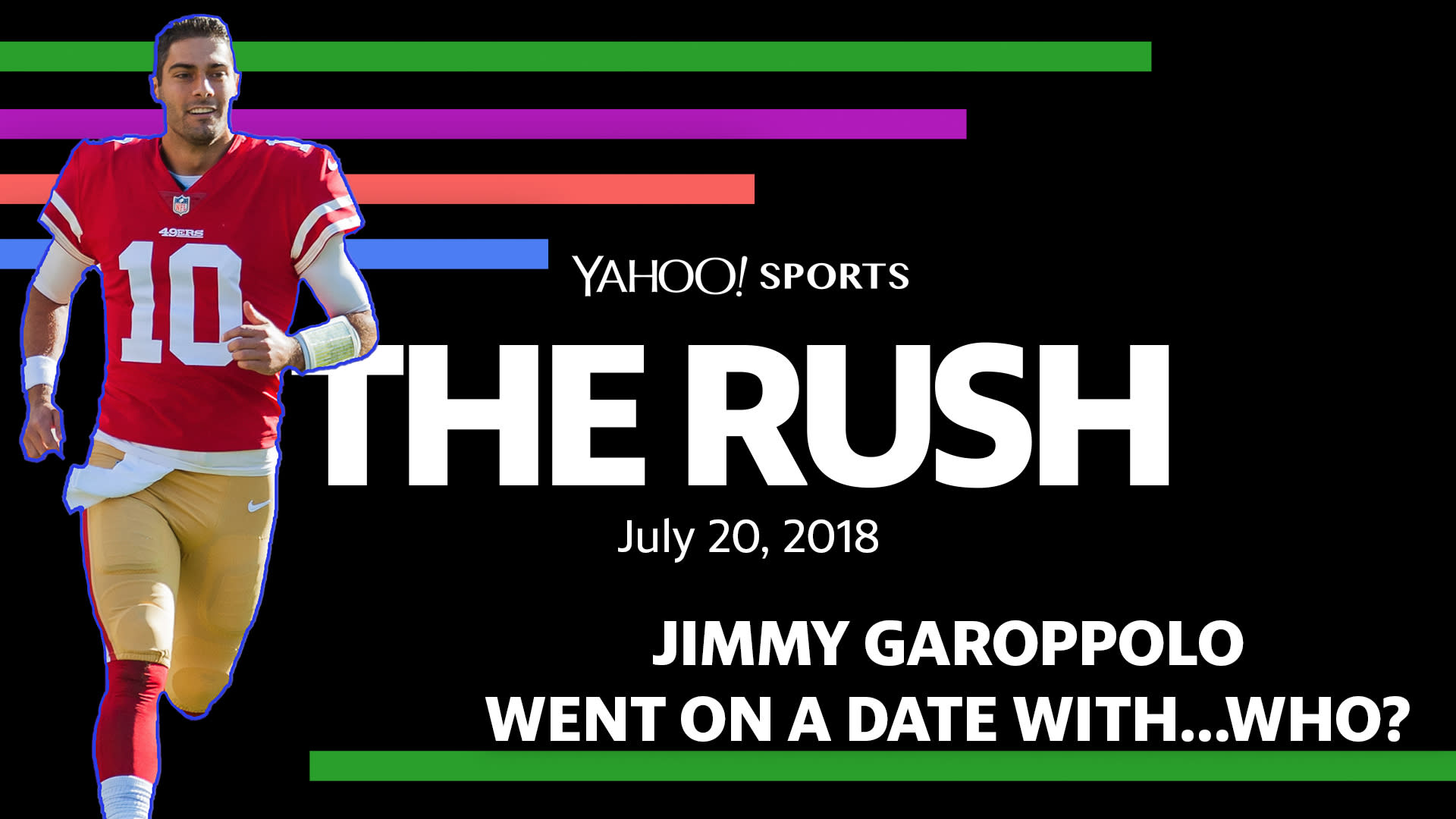 2f06099be The Rush  Jimmy Garoppolo went on a date with…who   Video