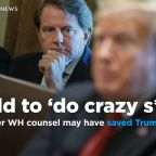 Former White House counsel Don McGahn may have saved Trump from himself