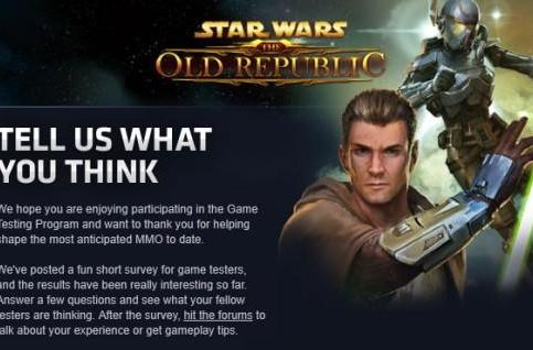 Star Wars: The Old Republic accidentally taunts potential testers [Updated]