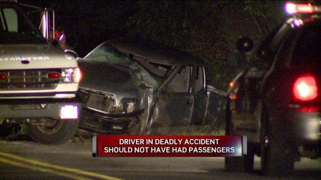 Teen Driver In Fatal Accident Shouldn`t Have Been On Road