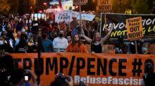 Proteste am Weißen Haus vor Trump-Rede