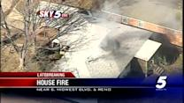 Fire damages house in Midwest City
