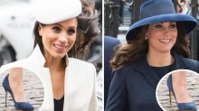 Meghan Markle and Kate Middleton step out in the same shoes