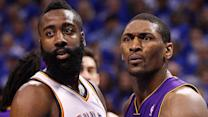 Metta World Peace says James Harden 'flopped'