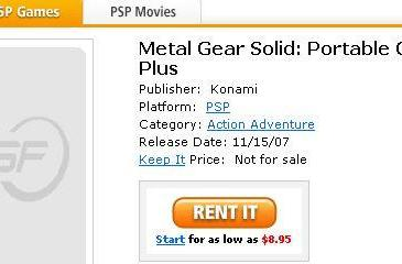 MGS: Portable Ops Plus spotted on GameFly, amazon