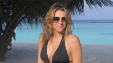 Liz Hurley, 55, dazzles in plunging one-piece swimsuit
