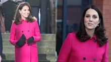 You've seen Kate Middleton wear this $2,500 hot pink coat before