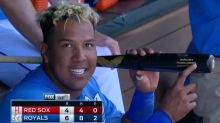 Salvador Perez's game-winning grand slam came with unlikely assist