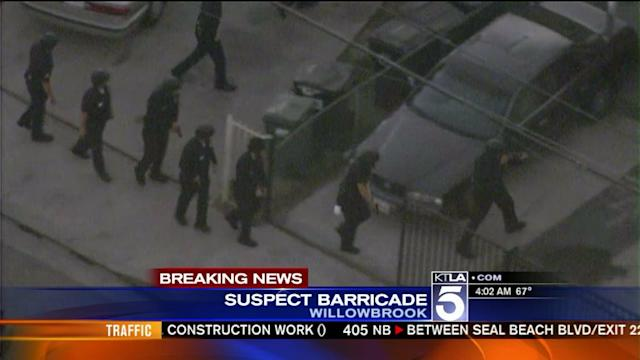 2 Officers Wounded in Willowbrook; Alleged Gunman Barrricaded