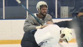 Struggling Blues get into fight during tense practice