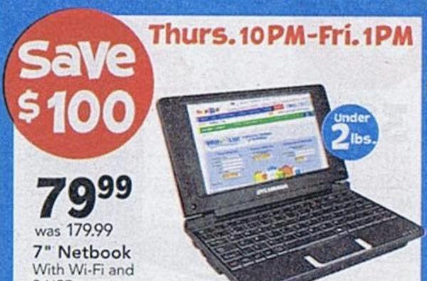 Toys R Us Black Friday doorbuster includes $80 netbook, $140 Sylvania tablet