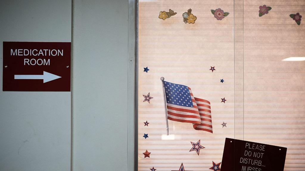 A patient's window at a recovery center in Youngstown, Ohio.